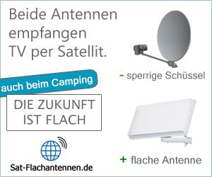 Camping Sat-Flachantenne