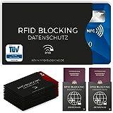 TÜV geprüfte RFID Blocking NFC Schutzhüllen (12 Stück) für Kreditkarte,...