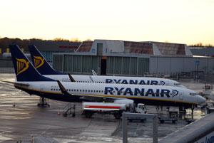 Ryanair Maschinen am Airport Bremen