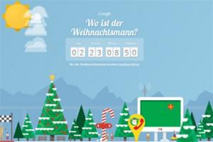 """Googles """"Auf den Spuren des Weihnachtsmanns"""""""