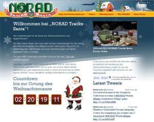 NORAD Weihnachtsmann-Ortung