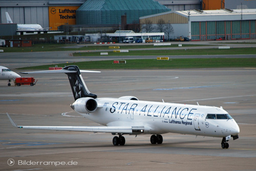 Flugzeug der Lufthansa in Hamburg