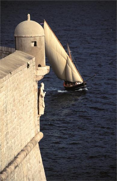 Segeln vor Dubrovnik