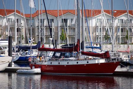 Boote im Yacht-Hafen