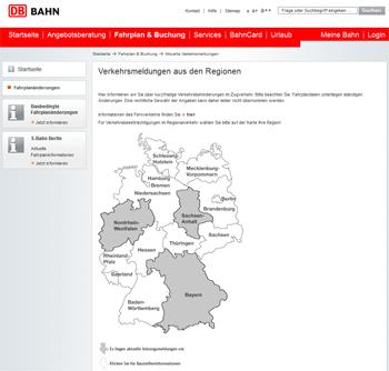 Verkehrsmeldungen der Deutschen Bahn