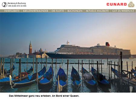 Queen Elizabeth in Venedig | © Cunard Line