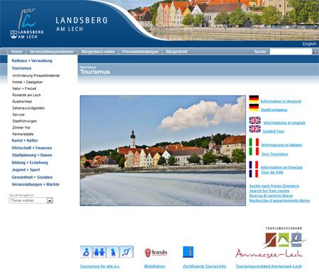 Homepage der Stadt Landsberg am Lech