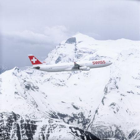 Swiss Airbus A320 im Schnee | Foto: © Swiss