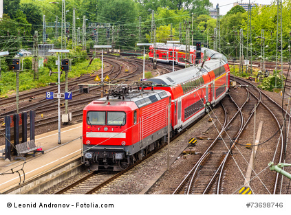 Ein Zug der Deutschen Bahn