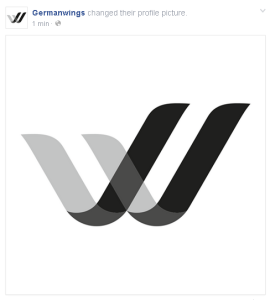 Germanwings Logo auf Twitter