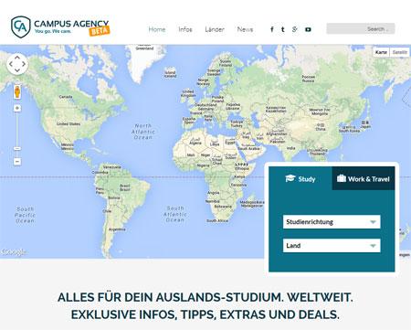 Campus.Agency: Infos fürs Auslandsstudium