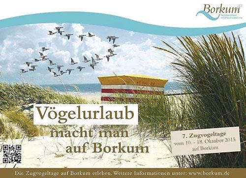 Anzeige für die Zugvogeltage auf Borkum
