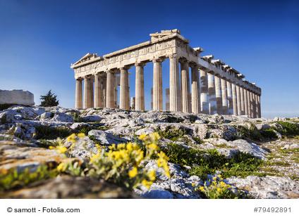 Parthenon Tempel auf der Akropolis in Athen