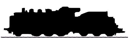 Silhouette einer Dampflok