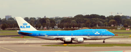 Eine Boeing 747-400 der KLM