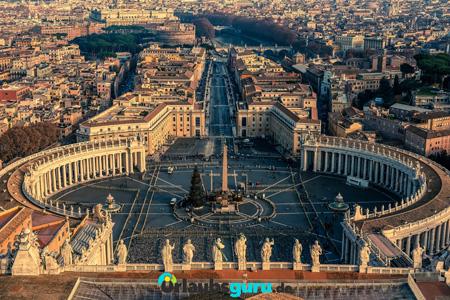 Luftaufnahme vom Vatikan und Rom