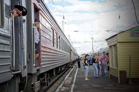 Ein Zug der Transsibirischen Eisenbahn | Foto: Peggy_Marco, pixabay.com, CC0 Public Domain