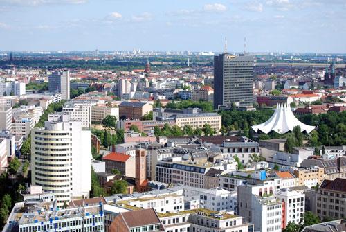 Blick auf den Anhalter Bahnhof in Berlin