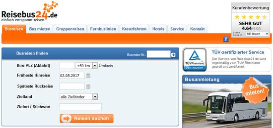 Screenshot reisebus24.de