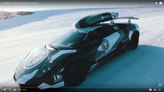 Lamborghini Huracán | Bild: Screenshot aus YouTube Video LAMBOS LOVE GLACIERS - VLOG 31
