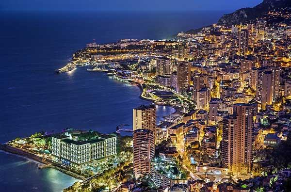 Monaco bei Nacht | Foto: Julius_Silver, pixabay.com, Pixabay License