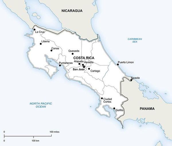 Costa Rica Karte | Bild: onestopmap, pixabay.com, Pixabay License