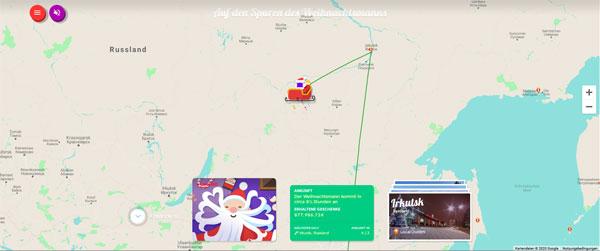 Screenshot: Google Santa Tracker 2020