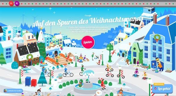 Screenshot: Google Weihnachtsdorf 2020