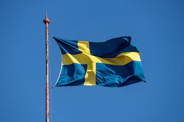Schweden Flagge   Foto: minka2507, pixabay.com, Pixabay License